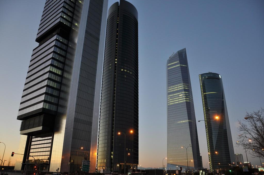 Четыре башни Делового Центра (Мадрид) фото: Trlco741