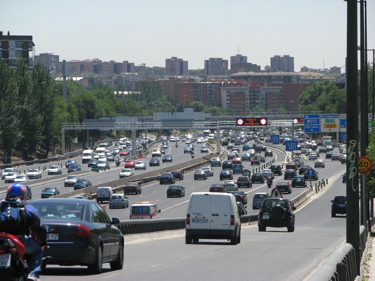 Движение на выезде из Мадрида