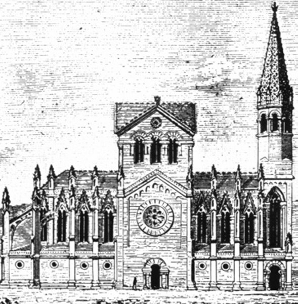 Оригинальный проект Храма Саграда Фамилия в Барселоне архитектора Франсиско де Паула дель Вильяр и Лозано