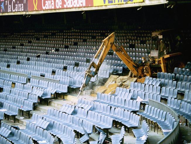 Obras Camp Nou en 1994 / Фото: Mundo Deportivo