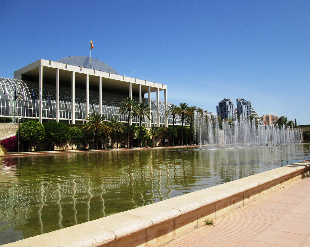 Сад Турия y Дворца Музыки в Валенсии / Фото: Leimenide (Flickr / C.C.)