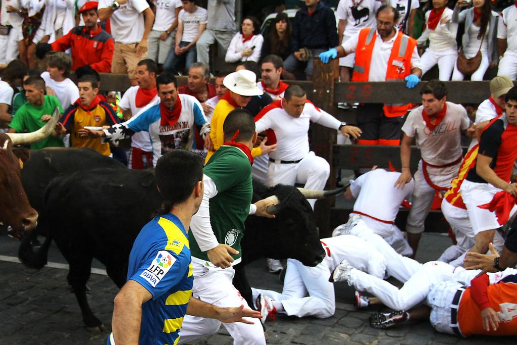 «Encierros» (Бег быков) Asier Solana Bermejo (flickr / C.C.)