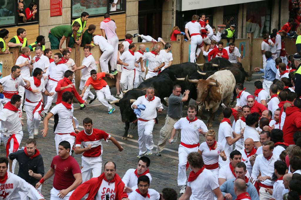 «Encierros» (Бег быков) Sanfermin Kukuxumusu (flickr / C.C.)
