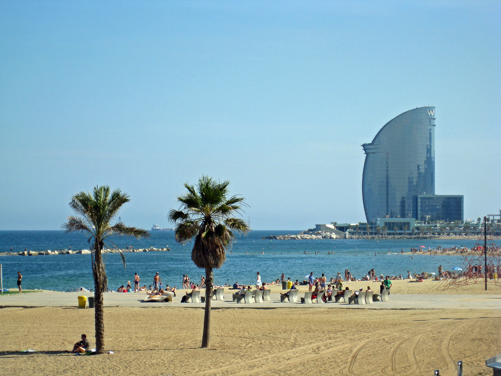Пляж в Барселоне / Фото: Rich Jacques (flickr / C.C.)
