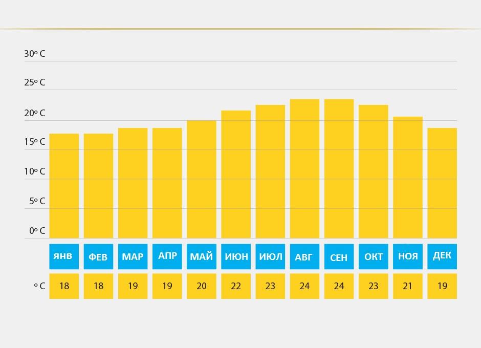 средняя температура на Канарах